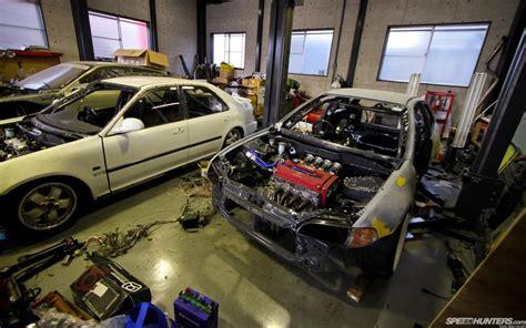 honda civic garage shop engine hd wallpaper cars