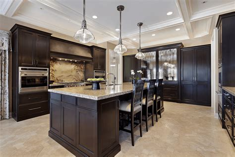 kitchens with black floors choices of kitchen floors with white vs cabinets 6604