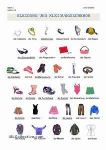 Kleidung Wortschatz Arbeitsblatt Kostenlose Daf