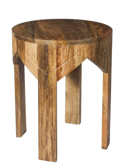 target small table ls a small round wood side table with an etched top from the