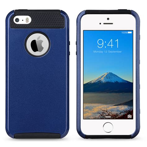 iphone 5s rubber shockproof rugged hybrid rubber cover for apple