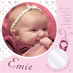 Photo De Bébé Fille : cadre photo naissance b b fille rose et liberty ~ Melissatoandfro.com Idées de Décoration