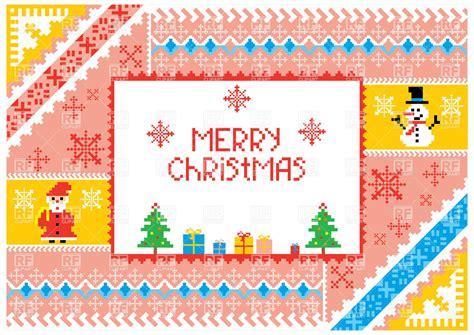 Cross Stitch Styled Ornament