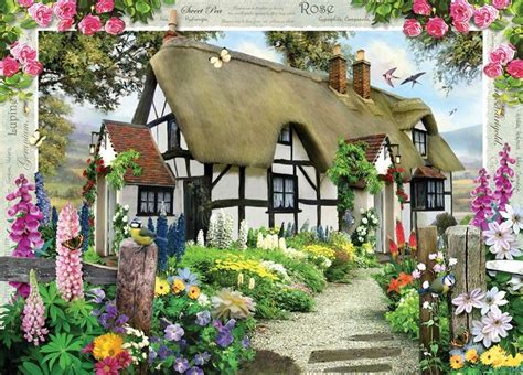 Rose Cottage 1000 Piece Jigsaw Puzzleyorkshire Jigsaw Store