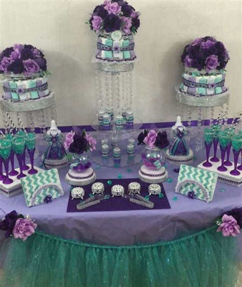 Purple And Teal Baby Shower Decorations by Mermaid Baby Shower Baby Shower Ideas More