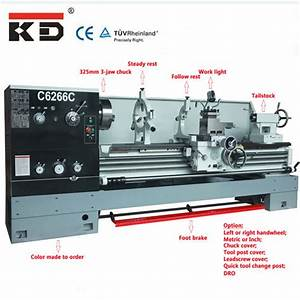 China Kaida Ce Approved Precision Horizontal Lathe Machine
