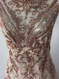 Rose Gold Lace Fabric