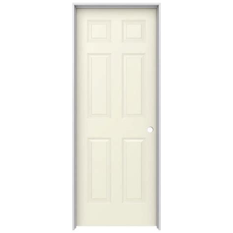 jeld wen interior doors jeld wen 28 in x 80 in molded smooth 6 panel
