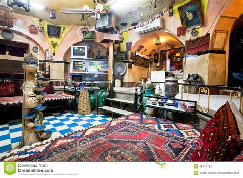interior  historical persian cafe house   carpets vintage furniture  arts editorial