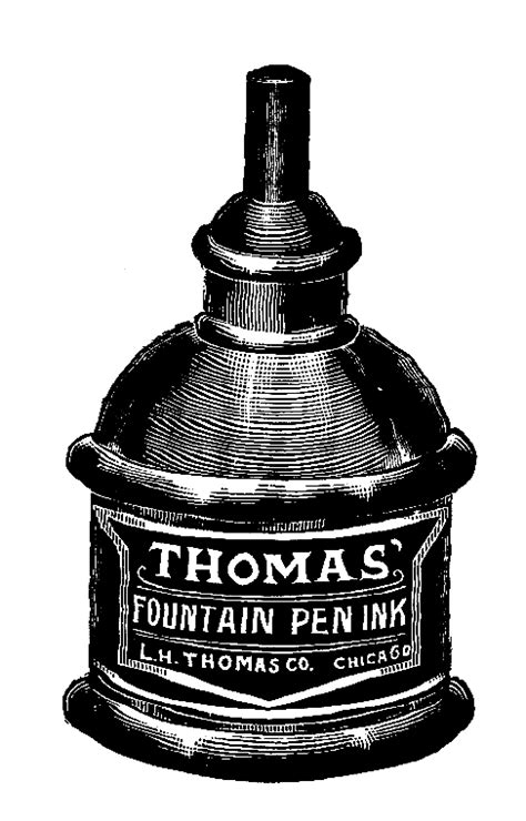 ink bottle clip art stamp clip art  ink