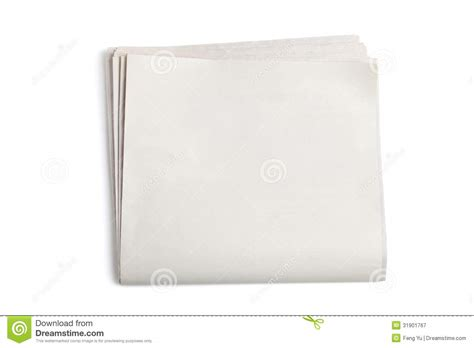 blank newspaper royalty  stock photography image