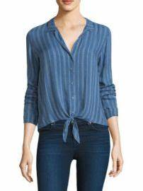 Light As A Feather Season 1 Episode 9 Wornontv Abby S Blue Striped Tie Front Shirt On 9 1 1