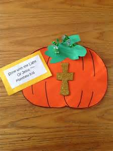Fall Bible School Crafts