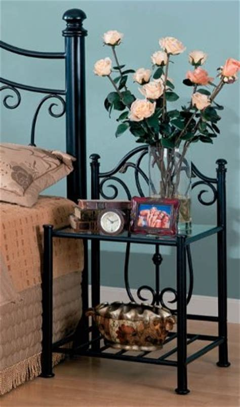metal and glass nightstand metal nightstands easy home concepts