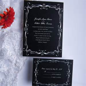 black wedding invitations classic black and white wedding invitations ewi014 as low as 0 94