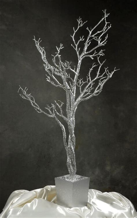 artificial bare trees silver manzanita potted tree 4 height