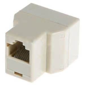 RJ45 Cat 5 6 LAN Ethernet Splitter Connector Adapter