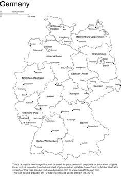 This printable outline map of Germany is useful for school