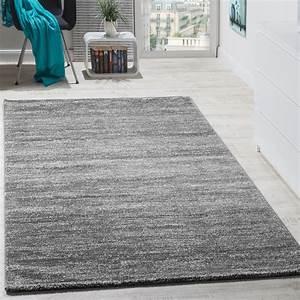 teppich kurzflor modern gemutlich preiswert mit melierung With balkon teppich mit design tapete grau