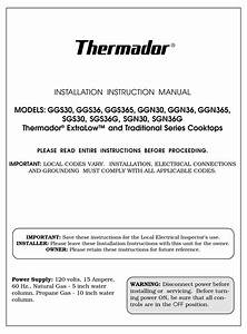 Thermador Ggs30 Installation Instructions Manual Pdf