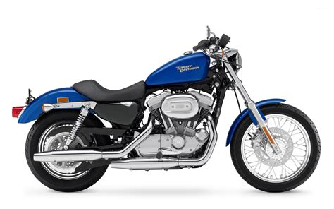 Side View Of A Blue Harley-davidson Wallpaper