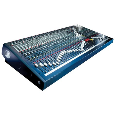 mixer console soundcraft lx7ii 32 channel mixing console box opened at