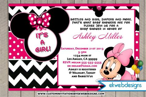 minnie mouse baby shower invitations city minnie mouse baby shower invitations it s a gril baby shower