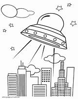 Ufo Coloring Pages Printable Space Boys Designlooter 1140px 56kb sketch template