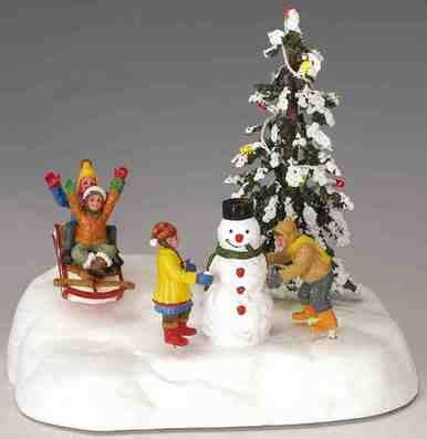 christmas village pieces 44210 frolic in the snow battery operated 4 5 volt lemax table pieces