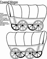 Wagon Covered Clipart Coloring Clipartmag sketch template