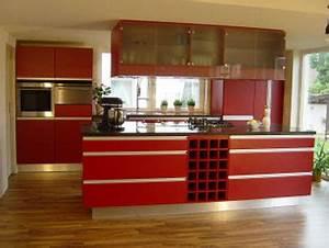 Rote Arbeitsplatte Küche : markus leder schreinerei ml rote kueche ~ Sanjose-hotels-ca.com Haus und Dekorationen