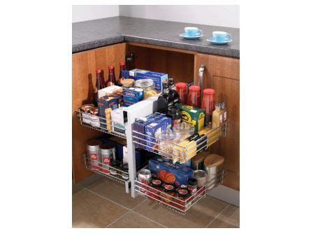 corner unit kitchen storage 150mm pull out storage rail lark larks 5878