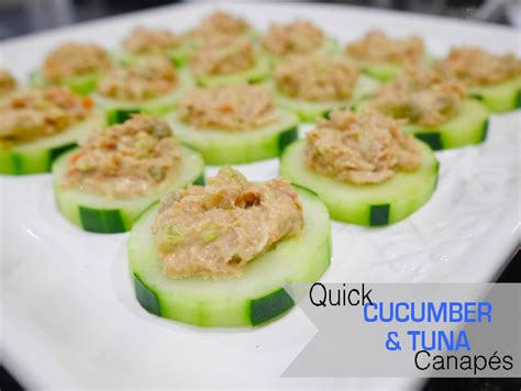easy canape recipes uk one thousand looks cucumber and tuna canape recipe