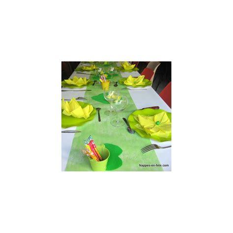 Chemin De Table Intissé Vert Pas Cher