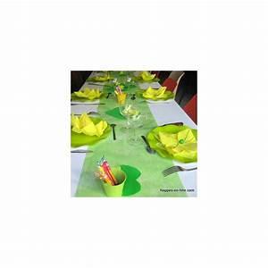 Chemin De Table Vert : chemin de table intiss vert pas cher ~ Teatrodelosmanantiales.com Idées de Décoration