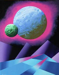 Planet X Abstract Landscape Painting Painting by Mark Webster