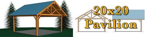 20x20 log pavilion meadowlark log homes