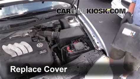 1995 Vw Passat Fuse Box Cover by Battery Replacement 1999 2005 Volkswagen Jetta 2000