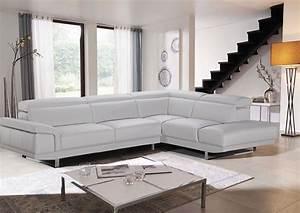Canapé D Angle Contemporain : canap d 39 angle brooklyn cdm salons center ~ Teatrodelosmanantiales.com Idées de Décoration