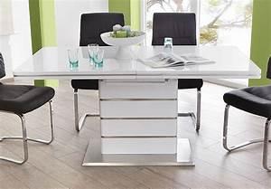 Hochglanz Tisch Weiß : esstisch alando tisch ausziehbar in wei hochglanz edelstahl 160 200x90 cm ~ Frokenaadalensverden.com Haus und Dekorationen