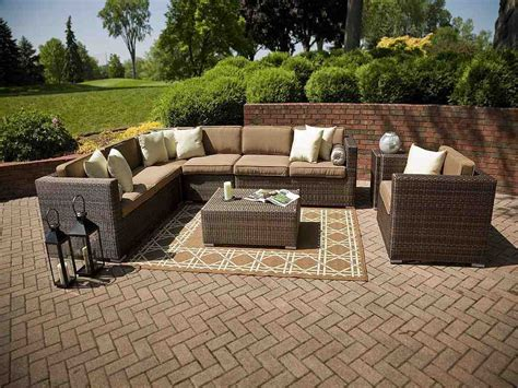 outdoor resin wicker sectional patio furniture decor
