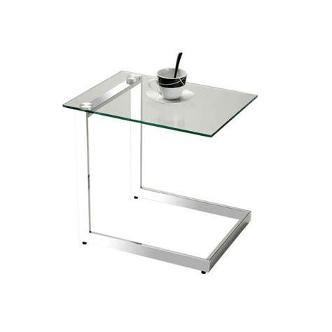 table bout de canape en verre design table d appoint en verre lleida transparent achat vente bout de canap 233 table d appoint en