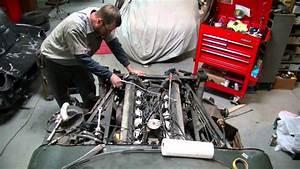 Removing Jaguar V12 Engine From 1974 Jaguar Xke