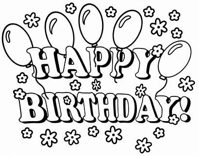 Birthday Coloring Happy Pages Birthday6