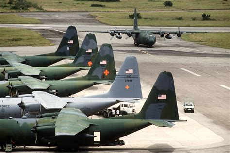 File:Air Force Reserve C-130s during Operation Provide ...