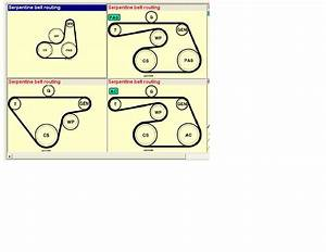 Drive Belt Routing Diagram For Ford Focus 1 4 With No A  C