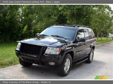 2000 jeep cherokee black black 2000 jeep grand cherokee limited 4x4 agate