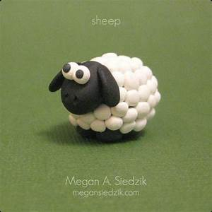 Polymer Clay Sheep | Polymer clay animals, Clay animals ...