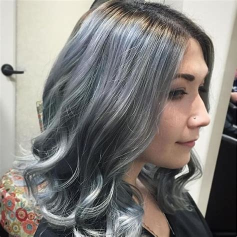 Hairstyles For Black With Gray Hair by Grey Hair Trend 20 Glamorous Hairstyles For 2018