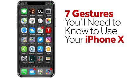 how to use gestures on iphone 7 gestures you ll need to know to use your iphone x youtube How T